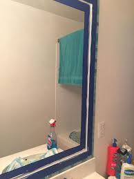 how to decorate bathroom mirror tiled bathroom mirror frame no grout hometalk