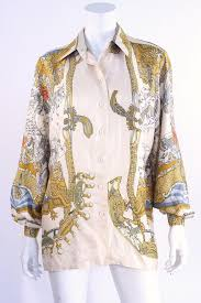 scarf blouse vintage hermes silk scarf blouse at rice and beans vintage
