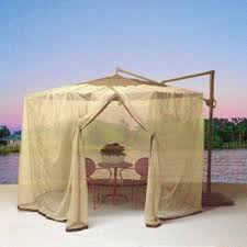 Mosquito Netting Patio Shop Shade Trends Mosquito Net For Patio Cantilever Umbrella At