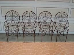 Iron Bistro Chairs Vintage Large Wrought Iron Peacock Chair Patio Porch Swing Outdoor