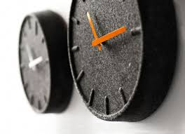 amsterdam felt designer wall clock grey