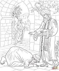 parable of the two debtors coloring page free printable coloring