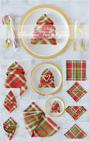 curly kitchen christmas tree napkins