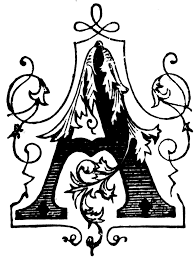 a ornamental letter clipart etc