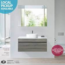 asti 900mm light grey oak timber wood grain wall hung bathroom