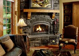 furniture chic jotul wood stove fireplace with natural stone
