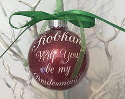 flower girl christmas ornament bridesmaid ornament etsy