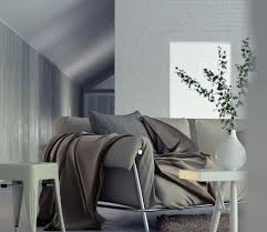 gray interior gray sofa living space interior design ideas
