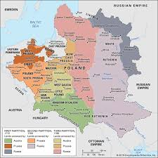 russia map after division partitions of poland history britannica