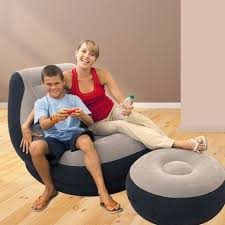 bean bag chair with ottoman intex inflatable ultra lounge gaming bean bag chair cup holder and