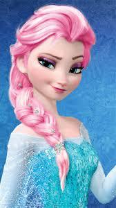 frozen gambar elsa berwarna merah muda merah muda hair color