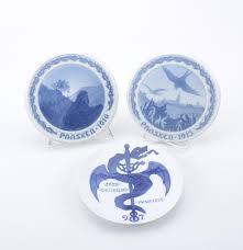 antique pair b g paasken plates and royal copenhagen