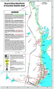 grand map grand bay westfield cycling route map