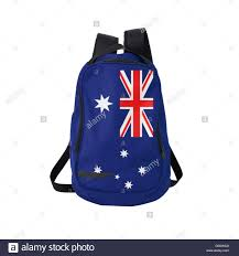 Aussie Flag Australian Flag Backpack Isolated On White Stock Photo Royalty