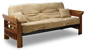 Wooden Frame Couch Traditional Small Futon Couch With Brown Wooden Frame And Lift Up