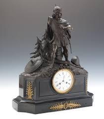 Mantel Clocks Antique Antique Warrior Figural Mantel Clock 09 04 14 Sold 316 25