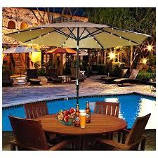 solar powered umbrella lights outdoor umbrellas with lights ninkatsulife solar powered patio