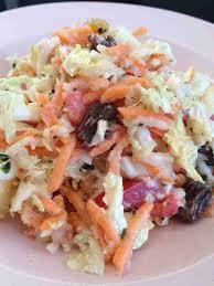 cuisiner chinois salade de chou chinois carottes pomme et raisin cuisine