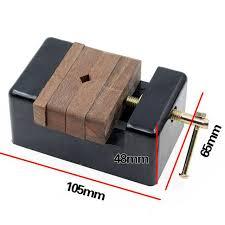 Catok Kayu 105 65 48mm kayu alat kerja mini datar tang catok penjepit meja