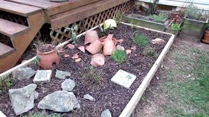 raised bed herb garden makeover before and after youtube