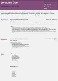 resumes for administrative assistant chronological sample resume