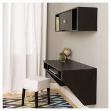 Black Desk With Hutch Designer Floating Desk And Hutch Set Black Prepac Target