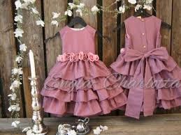 Dusty Rose Wedding Dress Dusty Rose Flower Dress Toddler Girls Special Occasion Dress