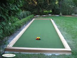patio u0026 outdoor elegant bocce ball court with synthetic grass and