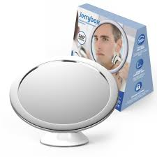 jerrybox fogless shower mirror for shaving and makeup adjustable