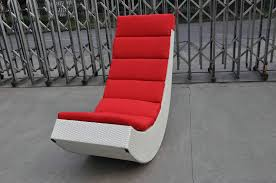 rattan rocking chair aluminum frame comfortable rocking sofa