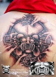 aztec warrior tattoo design by warvox com by warvox on deviantart