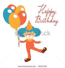 wedding invitation clown birthday greeting card vector show clowns stylish happy birthday card clown stock photo photo vector