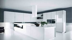 High Gloss Kitchen Cabinets by Comely Red Color High Gloss Kitchen Cabinets With Black Color