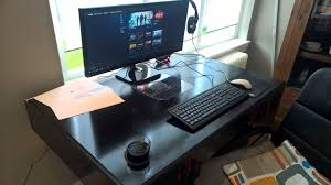 Desk For Gaming Pc by Homemade Gaming Pc Desk In Setup Youtube