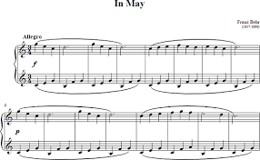 in may piano sheet in may score
