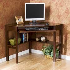 Corner Computer Desk With Drawers Solid Wood Computer Desk With Several Drawers An Option Computer