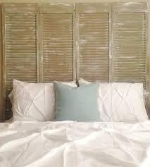 guest bedroom shutter headboard the lavender jar