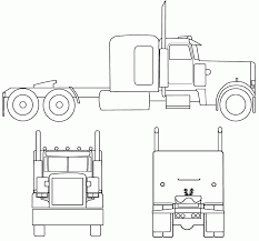 peterbilt coloring pages fablesfromthefriends com