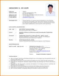 Resume Format For Mechanical Latest Resume Format For Experienced Mechanical Engineer It