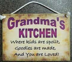 country printed quality wooden sign and hanger grandma u0027s kitchen