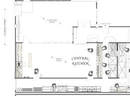 The Floorplans For Central Kitchen And Salumeria The New Projects Centralized Kitchen Floor Plans
