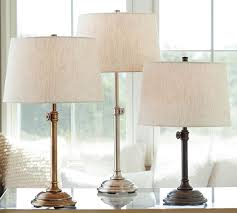 Table Lamp Brass Bulb Holder Chelsea Table U0026 Bedside Lamp Base Pottery Barn