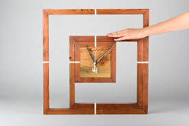 House Warming Gift Idea by Madeheart U003e Modern Clock Handmade Decorative Wall Clocks