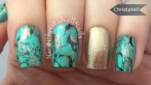 nail art copper nails bronze turquoise nail art designsturquoise