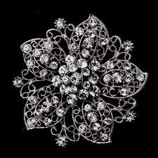 silver flowers brooch 156 wf wedding hair flowers