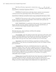 Service Contract Termination Letter Template Appendix C Sample Power Purchase Agreement Developing A