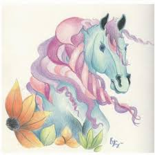 horse of a different colour drawing by kirsten slaney