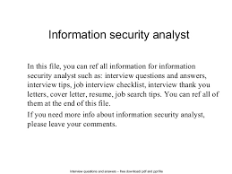 Sample Resume For Information Security Analyst by Information Security Analyst 1 638 Jpg Cb U003d1404279259
