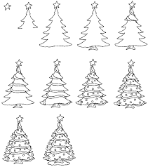 tree ornaments drawing childrens drawings clip