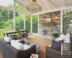 covered porch pictures home ideas outdoor screened porch in with fireplace and patio
